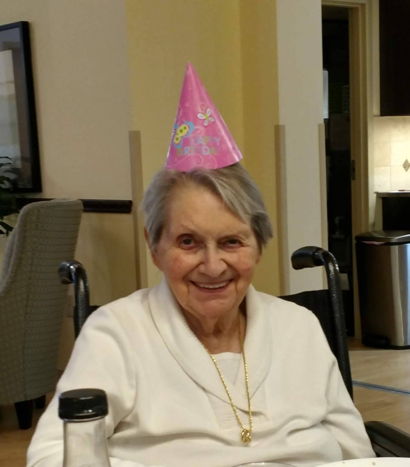 Nana with birthday hat