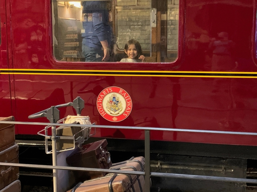 Ada on the Hogwart's Express